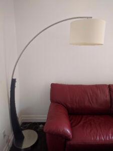 Floor Arc Lamp - Satin nickel, Espresso -Excellent condition