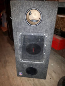 Sub box with 2 10 inch subs mase in usa