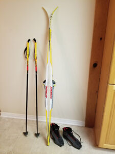 Ski package; cross-country, youth, excellent condition