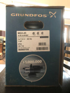 Domestic Water Pump - Grundfos 1Hp - new unopened in box
