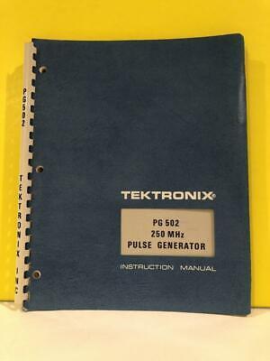 Tektronix 070-1598-00 Pg 502 250 Mhz Pulse Generator Instruction Manual