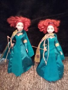 2 Disney Merida Barbie dolls