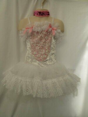 White Pink Bunny Rabbit Ballet Tutu Animal Dance Costume Medium Child MC 8 10 for sale  Shipping to India