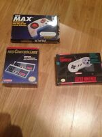 Complete in box nintendo games and controllers