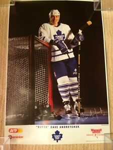 3 DIFFERENT HOCKEY POSTERS INCL. SUPER DAVE ANDREYCHUCK + OTHERS