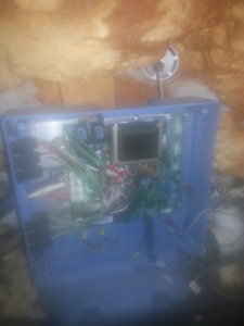 Hot tub electrical control panel.