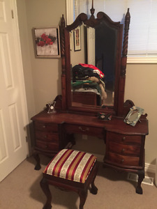 Antique Dressing Table and matching stool