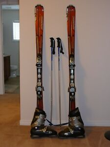 Ski's, Boots, Jacket, Helmet and accessories