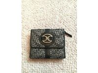 DKNY silver and black purse
