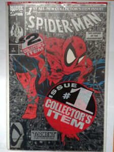 Spider-man #1 (1990) Todd McFarlane Variant Cover Factory Bag