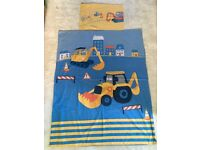 Cotbed duvet cover from Next - digger theme