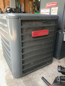 Goodman central air conditioner with coil