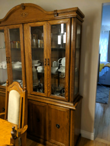 Solid Wood Dining Room Wall Cabinet - Perfect Condition
