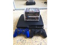 PS3 console with accessories
