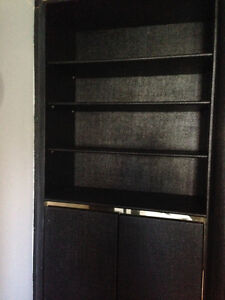 Large Black wall bookcase cabinets for sale