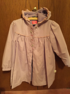 Osh Kosh little girl's spring coat with hood