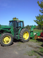 operator tractor n blower and backhoe