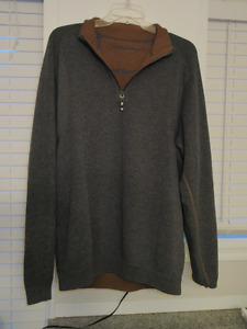 3 Tommy Bahama half zip reversible pullovers Men`s Med-Large