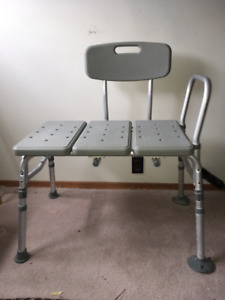 Medical 3 piece Transfer Shower/Bath Bench by Drive