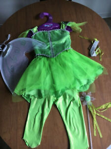 Tinkerbell Costume and Accessories (Child Size 5-6)