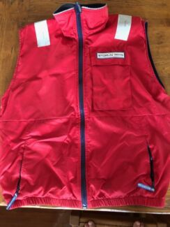 Sailing vest inflatable lined