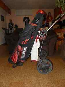 Matched Wilson Golf Set with Golf Cart and other goodies. Edmonton Edmonton Area image 3