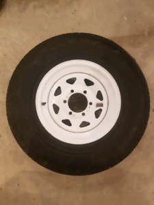 Goodyear spare trailer tire and rim
