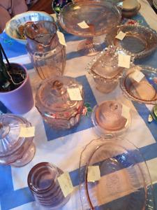 Vintage Depression Glass Set