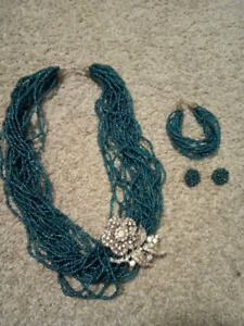 African beaded necklace set
