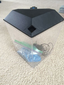 Small Fish Tank with Light $5