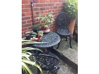 Wrought iron garden set