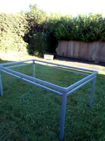 Garden table frame