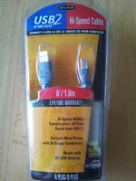Belkin 6ft USB 2.0 A/B Cable - brand new