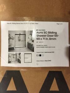 Shower door- Sliding glass