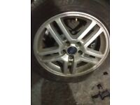 Ford focus 2006 1-6 inch alloy wheels with tyre