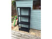 Shelving stack. Garage or shed. Bargain!