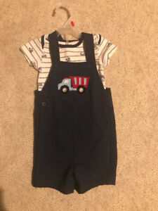 Baby boy short outfit