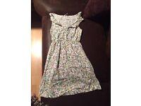 Bird print dress new look size 8