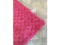 Brand new super soft pink throw, cost £20