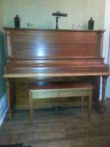 Antique Piano: Gerhard Heintzman: Upright Piano and Bench