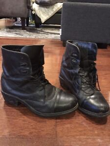 Aüken leather paddock boots and chaps