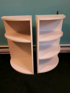 Two corner shelf