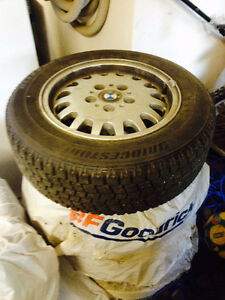 BMW rim and tires