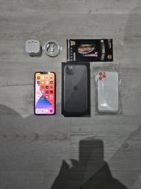 Like New Iphone 11 Pro Max Bundle Unlocked 64GB Grey I Phone Eleven