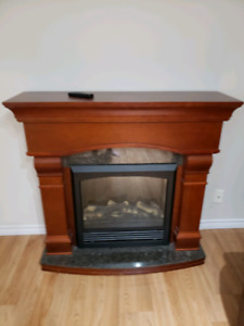 Electric Fireplace (Oak and Granite)