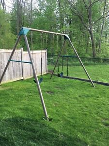 "3"" solid steel swing set 10' tall"