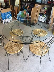 Table and 4 Chairs from Pier
