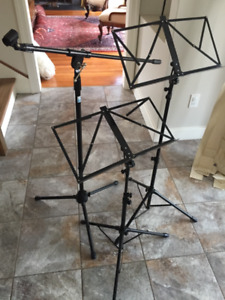 Music Stands and Microphone Stand