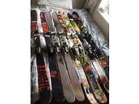 Freestyle skis, twin tip skis, powder skis