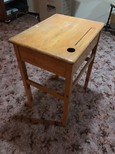 All wood student desk